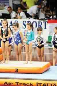 La premiazione con il terzo posto di Desireè Floriddia conquistato a Rapallo (Genova)