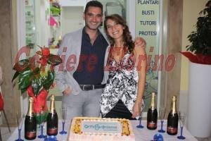 La dottoressa Concetta Gambuzza con il fidanzato Giuseppe Vignigni.