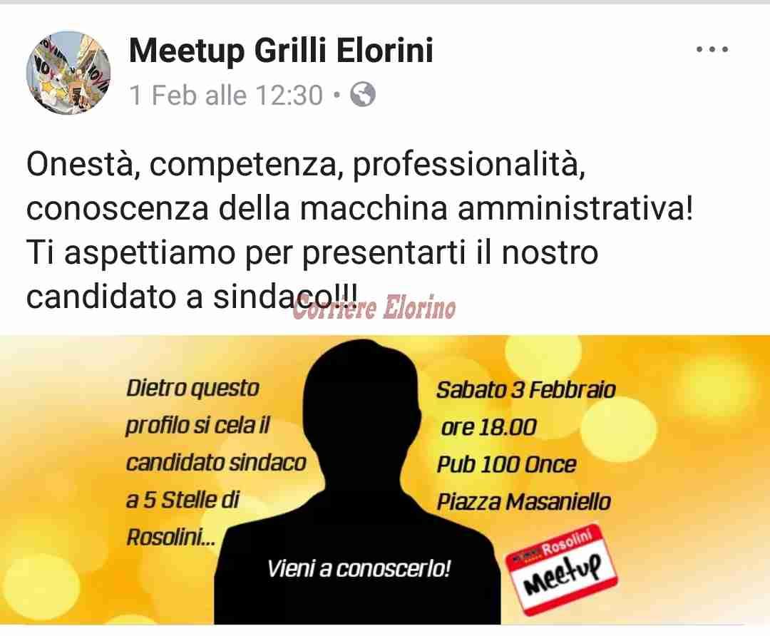 Oggi, alle 18, il Movimento 5 Stelle presenta il candidato a sindaco di Rosolini