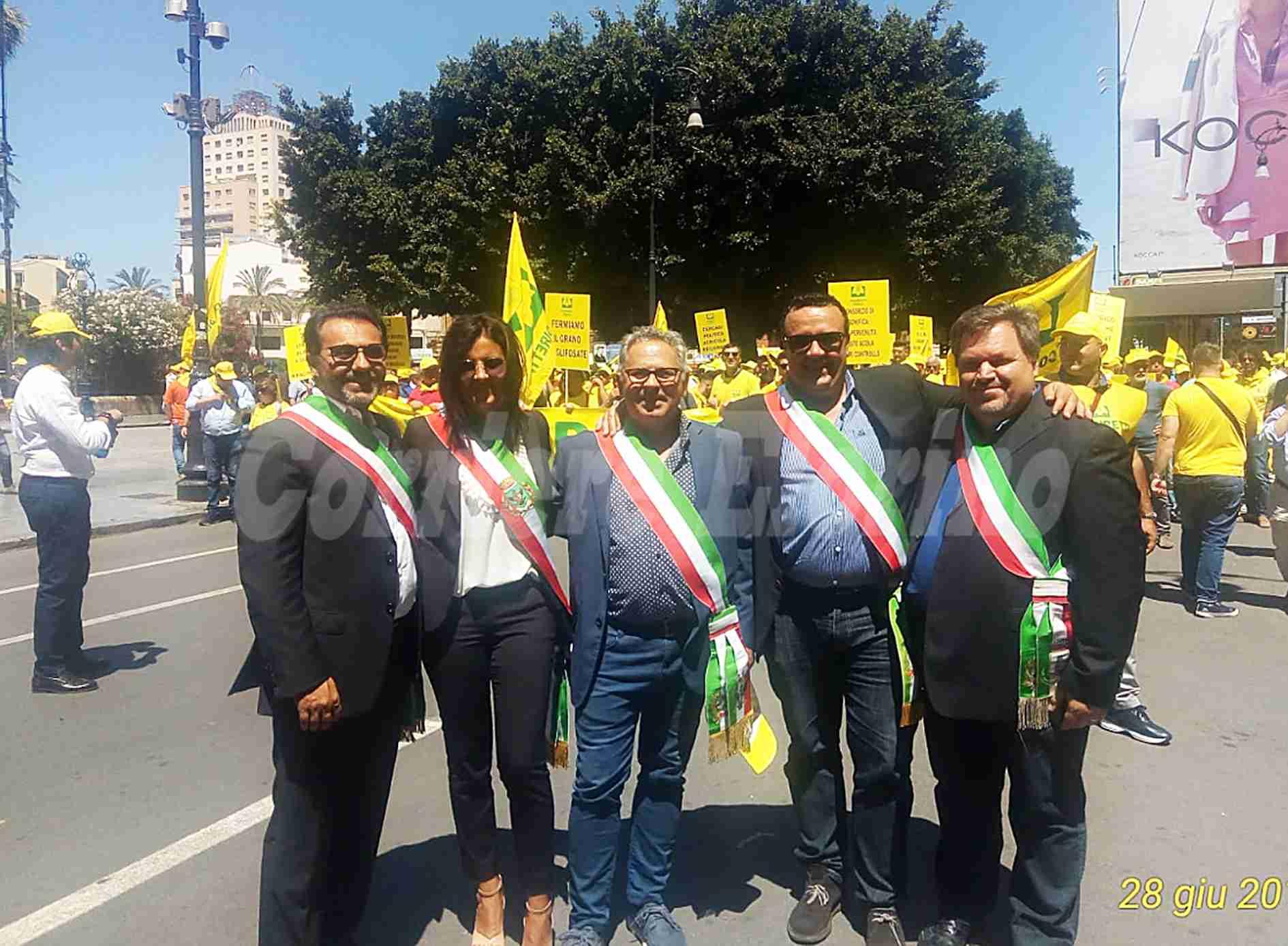 Anche l'Amministrazione di Rosolini presente a Palermo alla manifestazione della Coldiretti