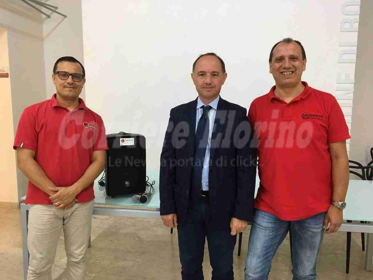 """""""Salemi L&M Elettronica"""" dona un nuovo impianto di amplificazione per la Sala Cartia"""