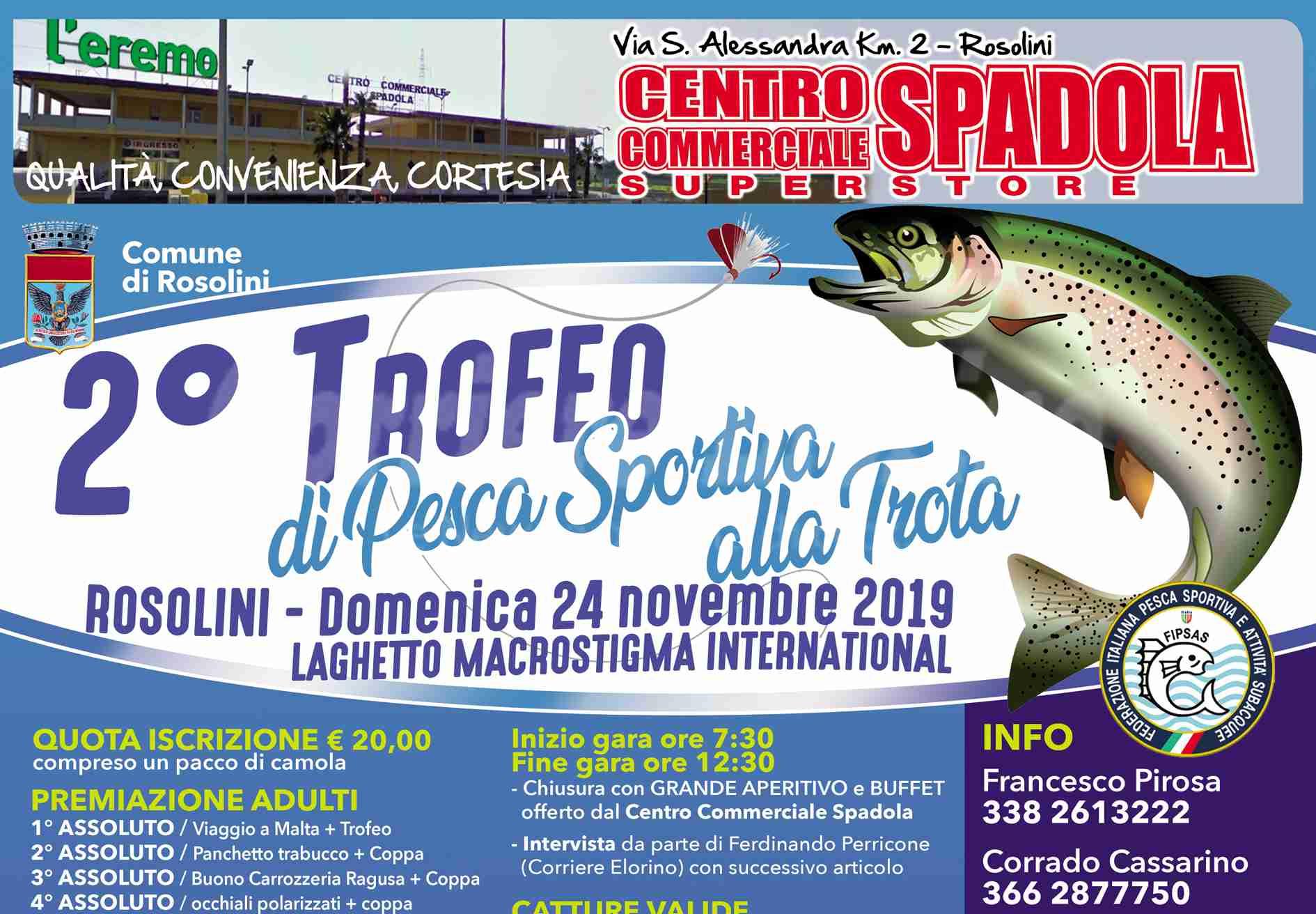 Rinviata al 22 dicembre la gara di pesca in programma oggi