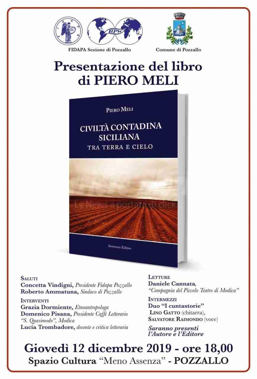 Il 12 dicembre, a Pozzallo, presentazione del libro di Piero Meli