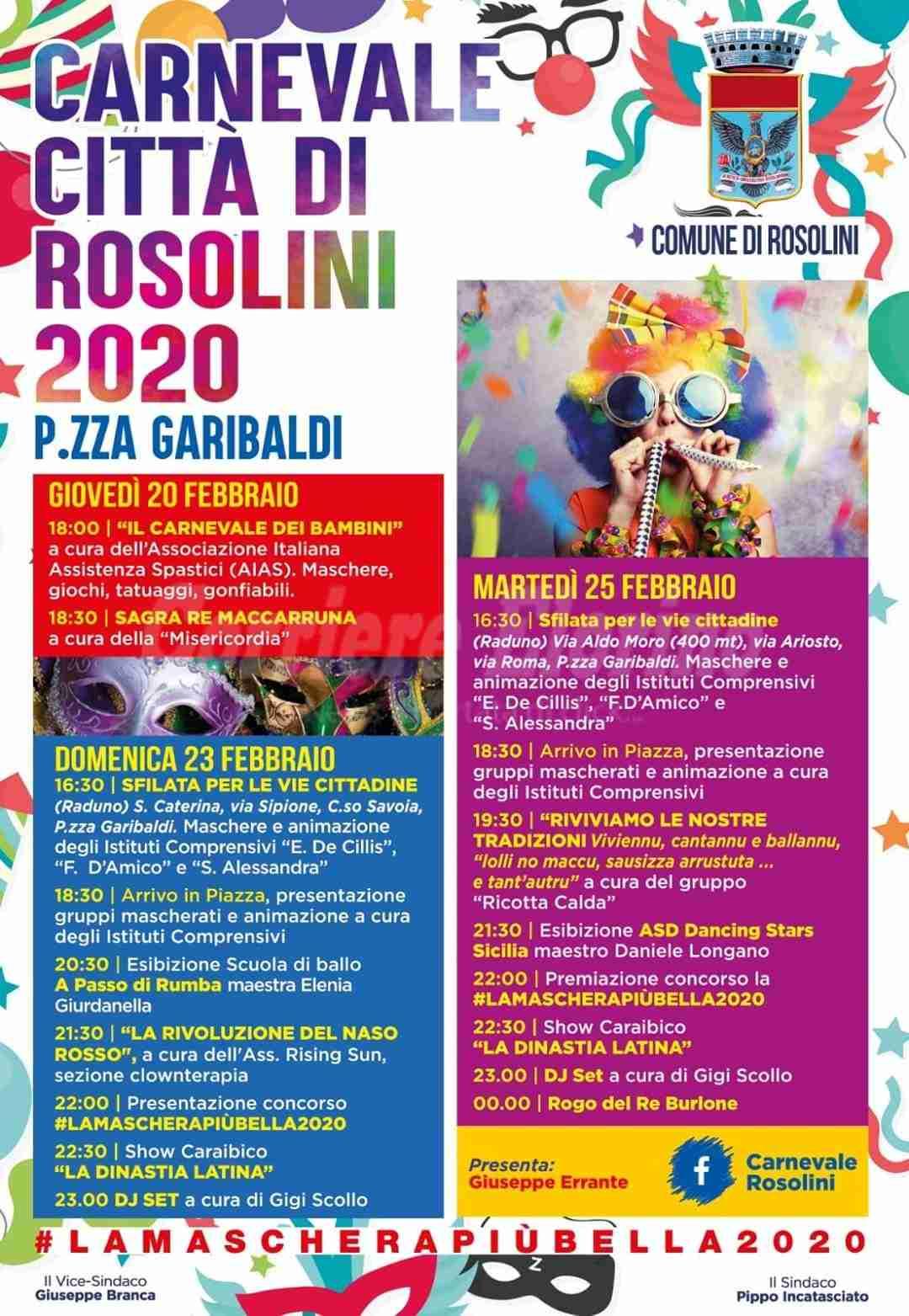 Al via domani il Carnevale 2020: il programma delle manifestazioni