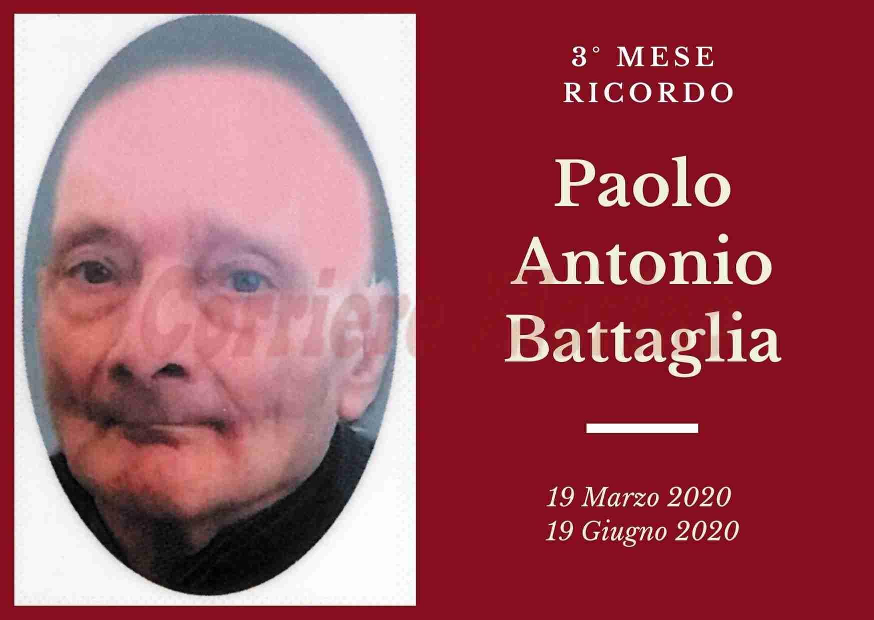 Ricordo: tre mesi fa saliva in cielo Paolo Antonio Battaglia
