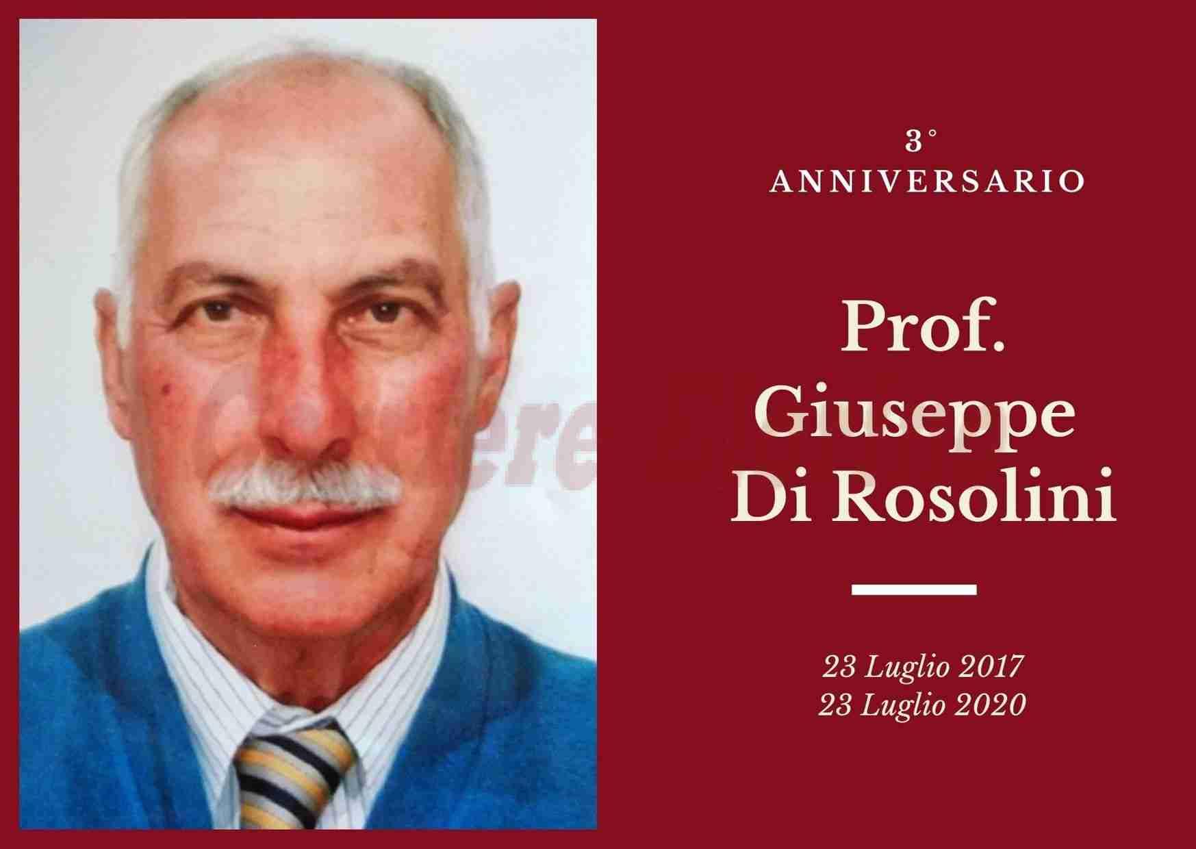 Necrologio: ricorre oggi il 3° Anniversario del Prof.Giuseppe Di Rosolini