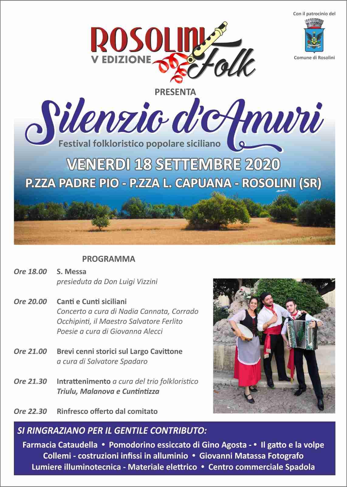 Venerdì 18 settembre V Edizione del Festival folkloristico popolare
