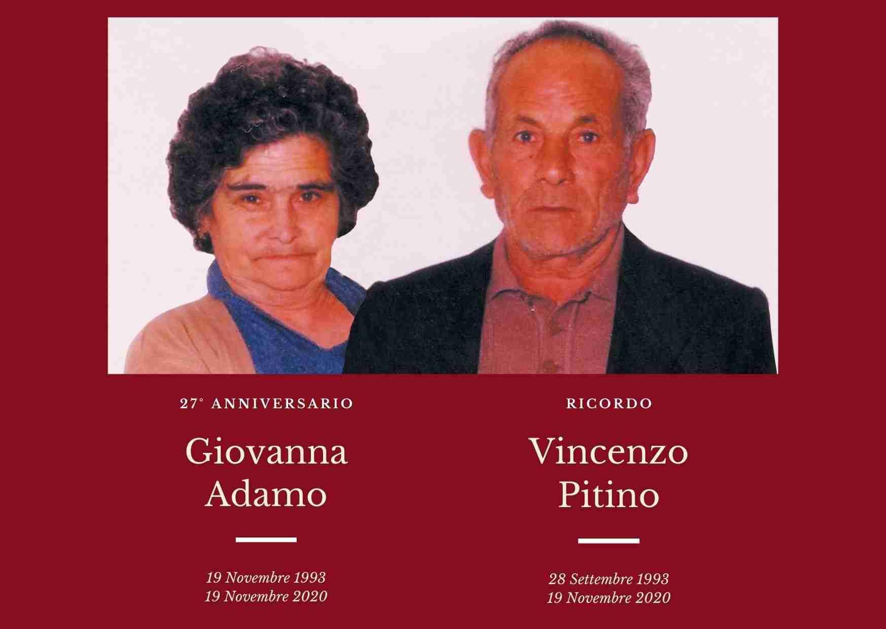 Necrologio: oggi l'anniversario e il ricordo dei coniugi Vincenzo Pitino e Giovanna Adamo