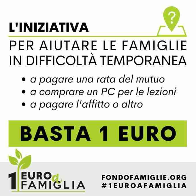 #1euroafamiglia, la campagna di raccolta per aiutare le famiglie in difficoltà