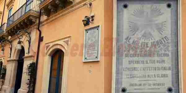 Il Comune di Rosolini conferirá la Cittadinanza Onoraria al Milite Ignoto