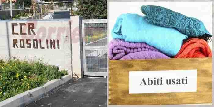 Ad agosto sospesa la raccolta indumenti usati in Via Aldo Moro, ma resta attiva al Ccr
