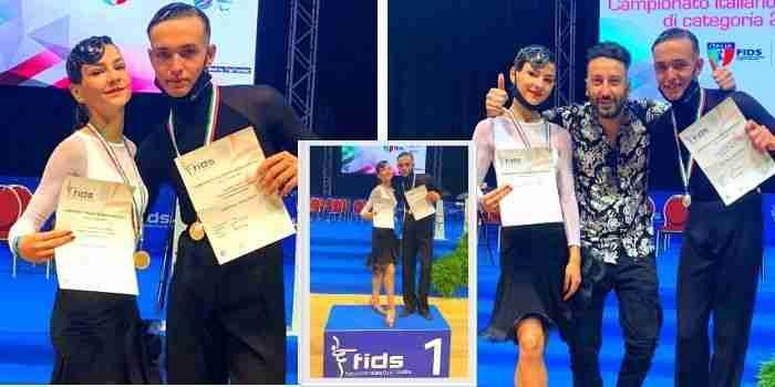 La coppia di ballerini Luigi e Giada conquista la medaglia d'oro ai campionati di Rimini