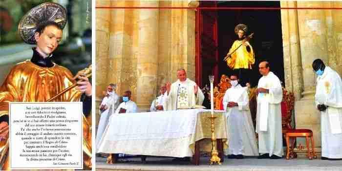 Slitta di una settimana la Festa del Patrono S. Luigi Gonzaga – Il Programma