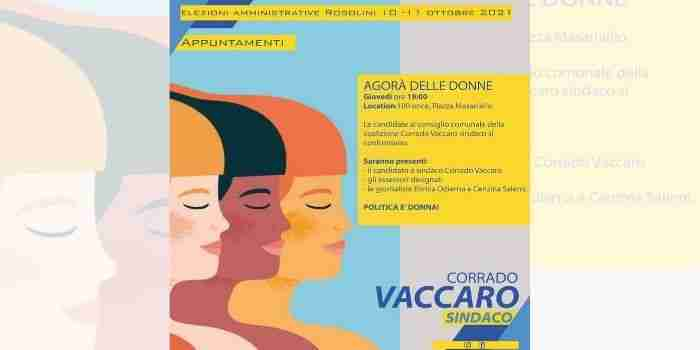 """Domani al 100 once """"Agorà delle donne"""", confronto tra le candidate della coalizione di Vaccaro"""