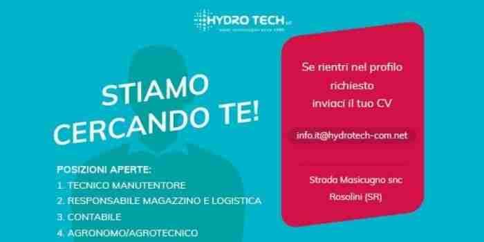 Annuncio, offro lavoro: azienda rosolinese Hydro Tech ricerca personale