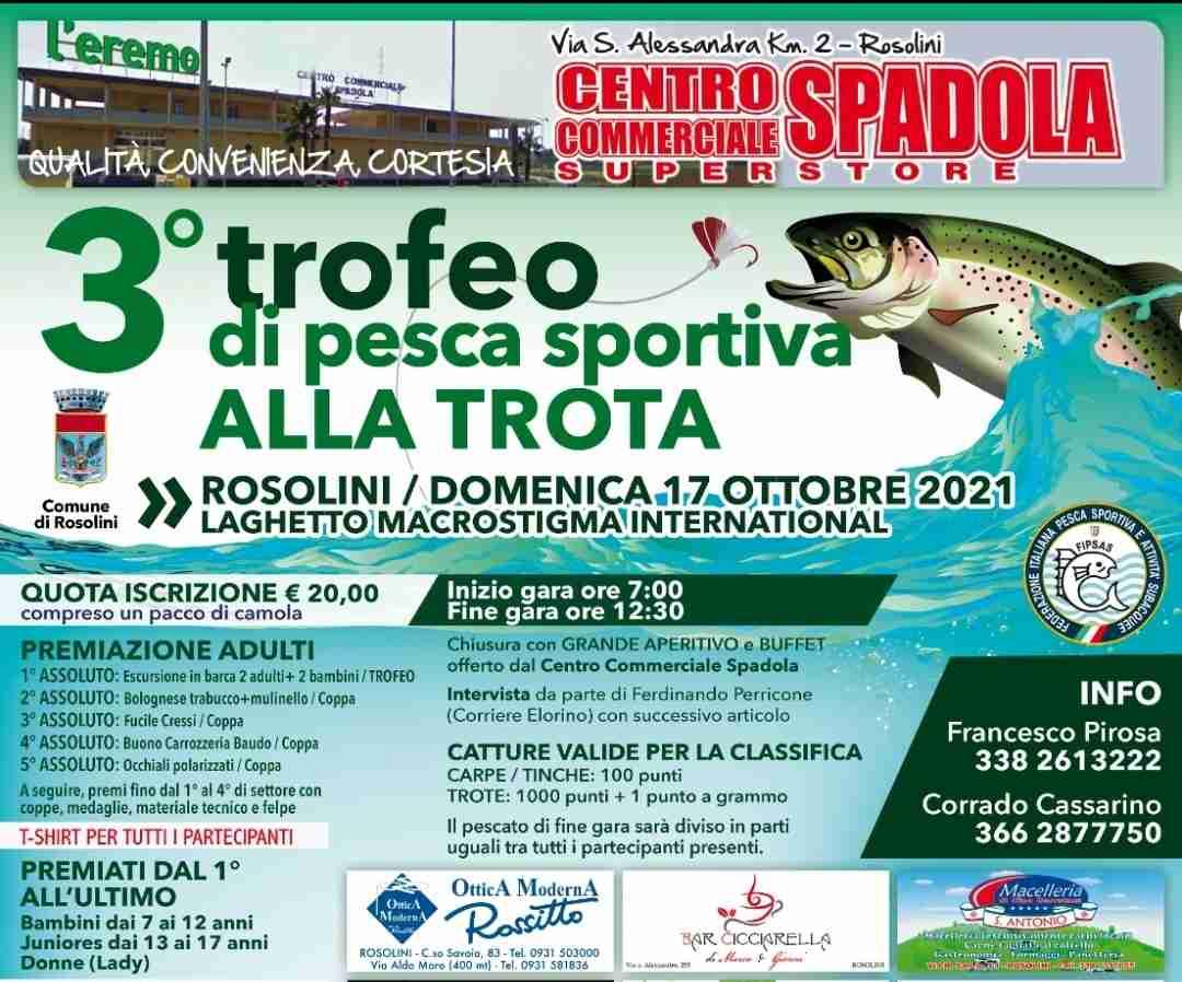Domenica 17 ottobre ritorna la gara di pesca sportiva alla trota